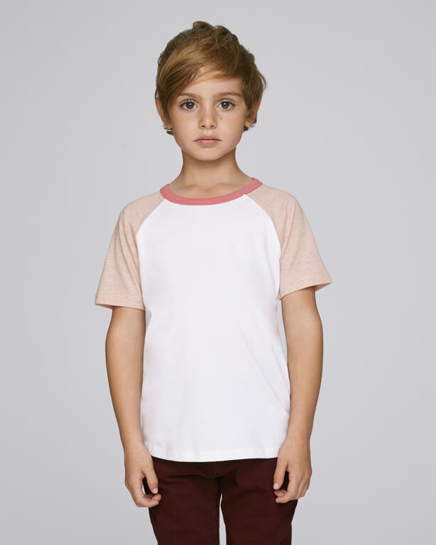 Mini Jump Short Sleeve STTK937 White/Cream Heather Pink/Flamingo Pink Herren vorne