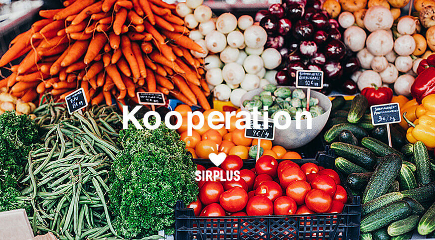 Kooperation mit SirPlus - Die Lebensmittelretter