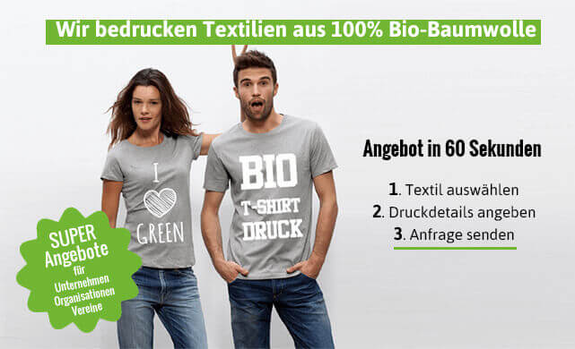 timeless design 3d850 14d49 Bio T-Shirts bedrucken lassen von Cantana Bio Textildruck