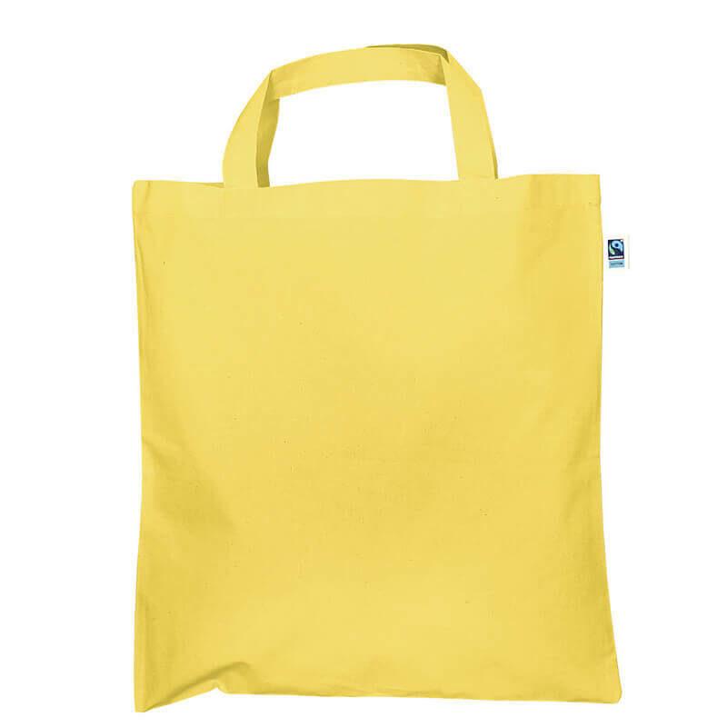 CA03 Fairtrade Tasche mit kurzen Henkeln in gelb