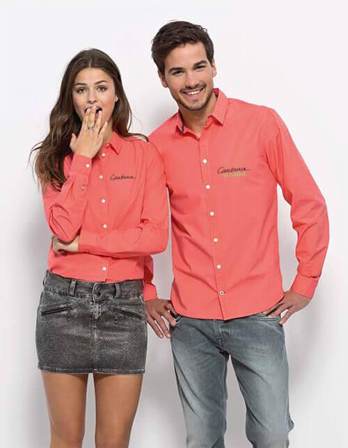 Hemden besticken und bedrucken