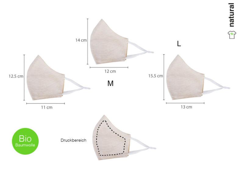 Maske aus Bio-Baumwolle bedrucken - Druckbereich