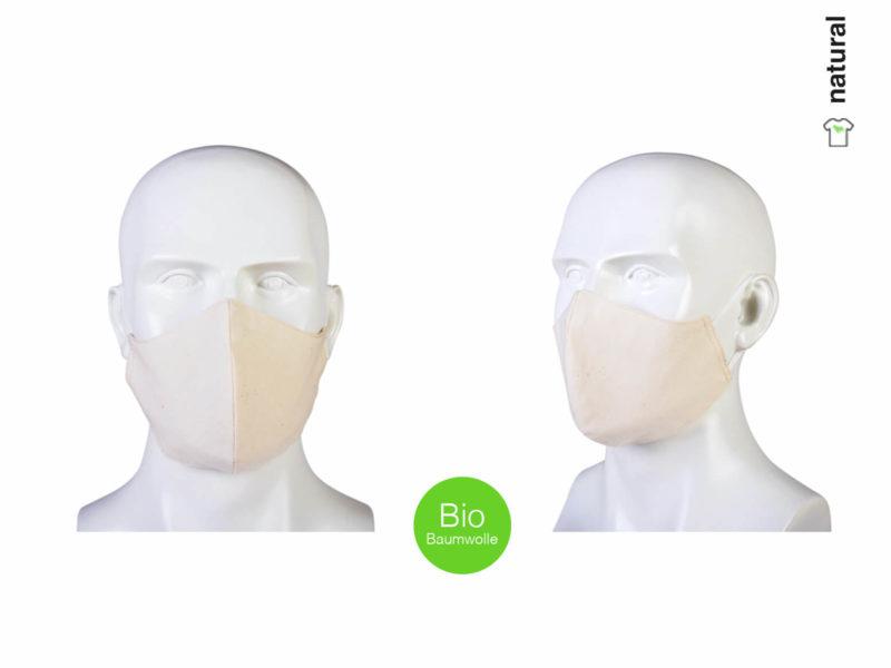 Maske aus Bio-Baumwolle natural