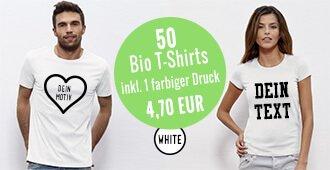 Bio-T-Shirts bedrucken Sonderangebot