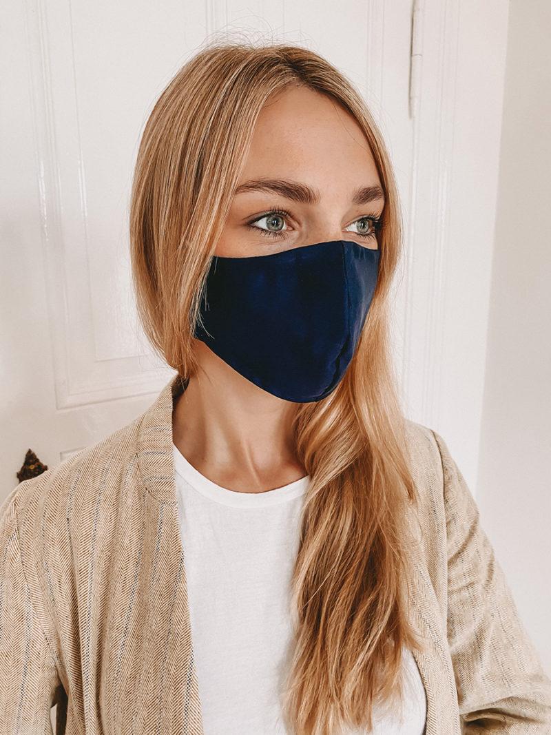 Gesichtsmaske mit Nasenbügel in navy