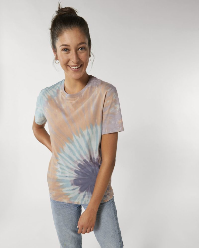 Creator Batik STTU757 Tie&Dye Teal Monstera/Lilac Petal Damen vorne