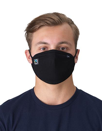 NE93030 Fairtrade Maske aus Bio-Baumwolle in schwarz