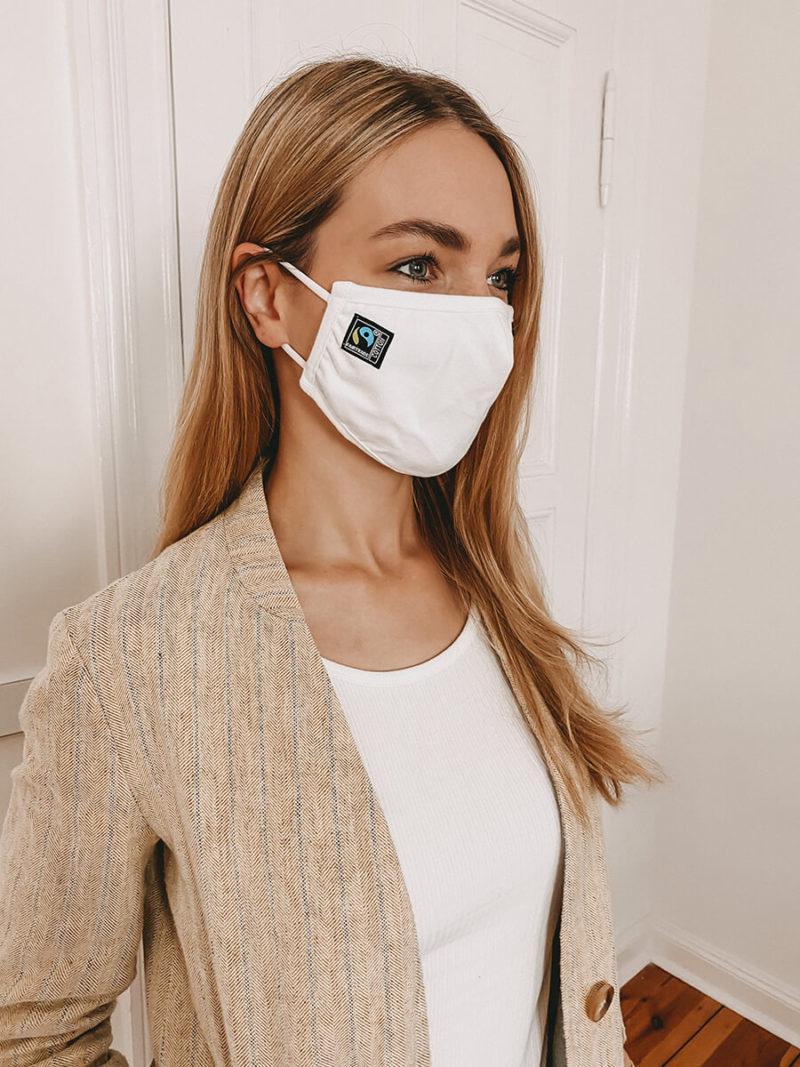 NE93030 Maske aus Fairtrade Baumwolle white