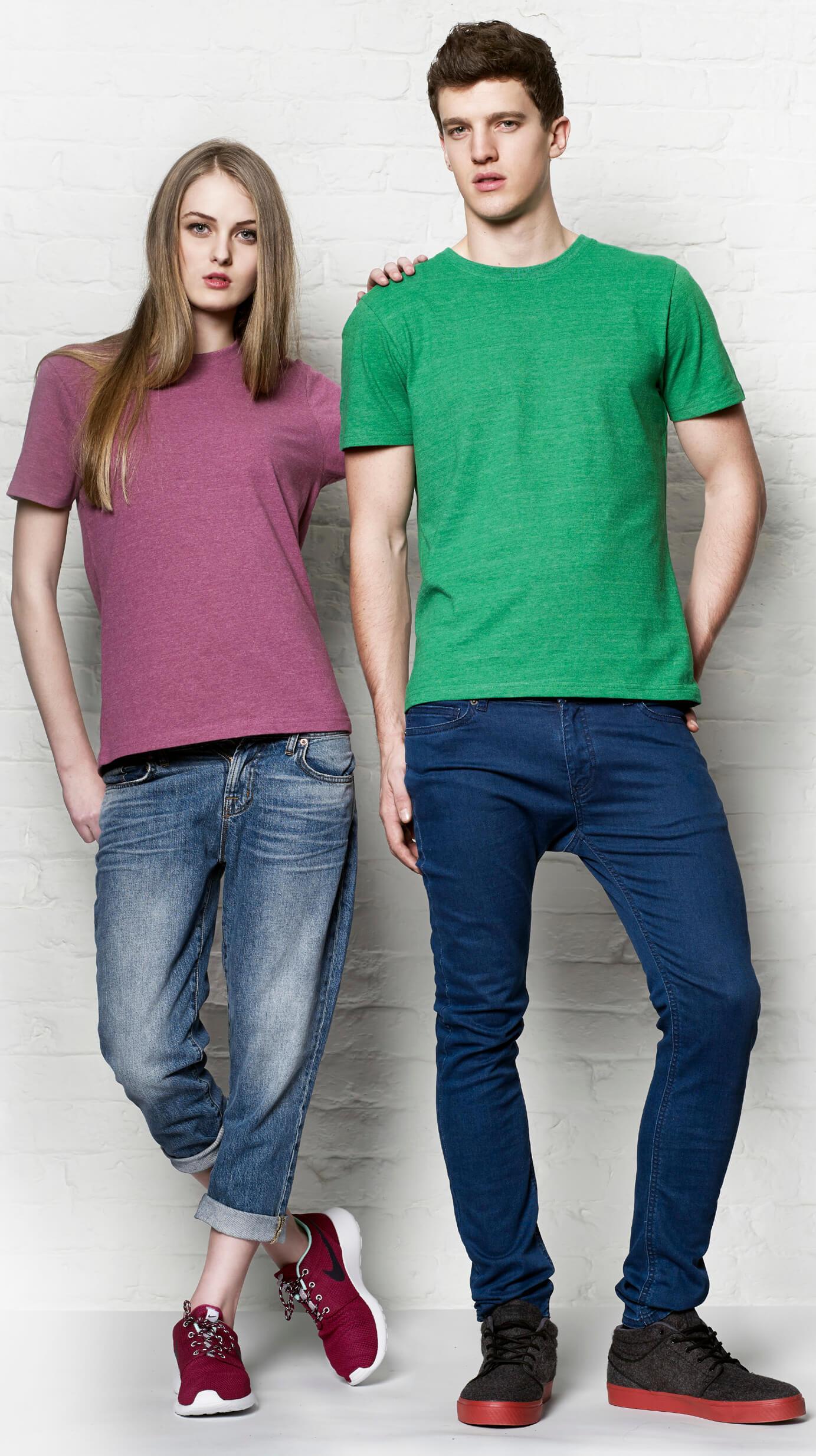 Druck auf 100% recyclebare T-Shirts