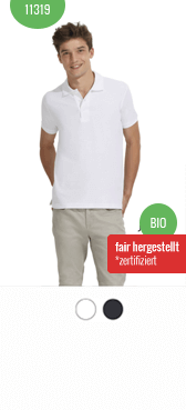Bio Polo-Shirt 11319 bedrucken