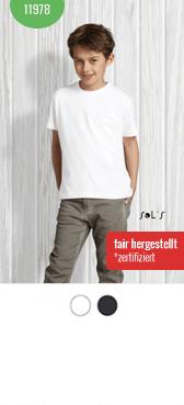 Kinder Bio Shirt 11978 bedrucken