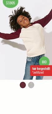 Kinder Bio Sweatshirt bedrucken