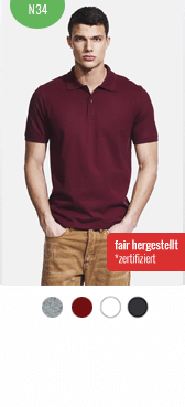 Faires Polo-Shirt N34 bedrucken