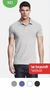 Bio Polo-Shirt n83 bedrucken