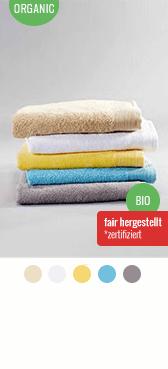 Bio Handtuch besticken