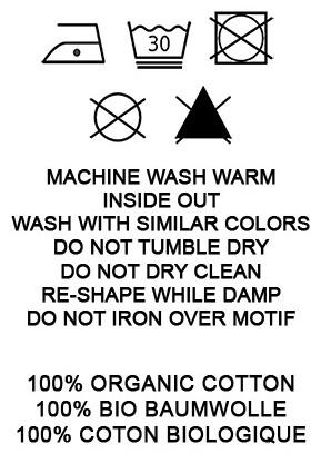 Waschanleitung Bio Baumwolle